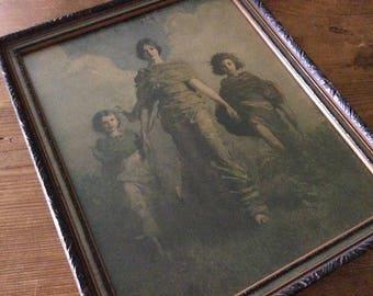 """Framed Abbott Thayer Print """"A Virgin"""""""
