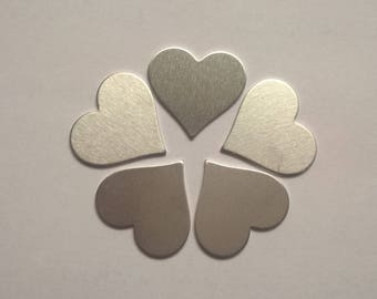 Small Heart Shaped Stamping Blank 1/2 or .5 inch, 14g Aluminum Stamping Blanks Stamping Supplies, Hand Stamping Jewelry Supplies