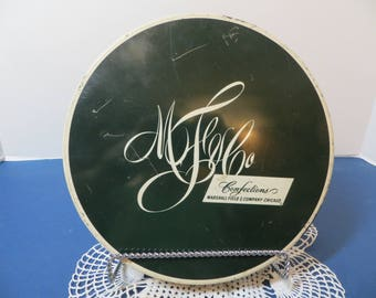 1950's Marshall Field Candy Tin with Fifty Dollar Gift Certificate