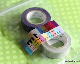 Masking tape MT  2 pieces - deco purple / gray 10m x 15mm
