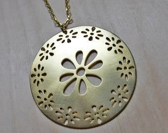 Flower Necklace, Floral Necklace, Spring Jewelry, Spring Necklace, Flower Necklace Charm, Gold Floral Necklace, Long Floral Necklace, Flower