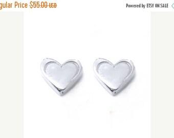 ON SALE HEART Petite Stud Earrings