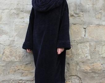 SALE ON 20 % OFF Long Sleeve Dress/ Black Dress/ Midi Dress/ Oversized Dress/ Womens Dress/ Casual Dress/ Black Jumper Dress/ Plus Size Clot