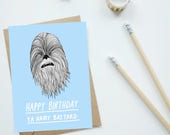 Chewbacca Star Wars Birthday Card