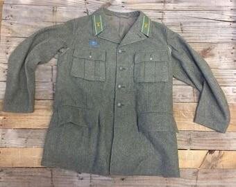 1943 Swedish Military Wool Coat