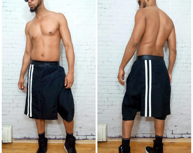 Over Front and Back drop crotch  shorts