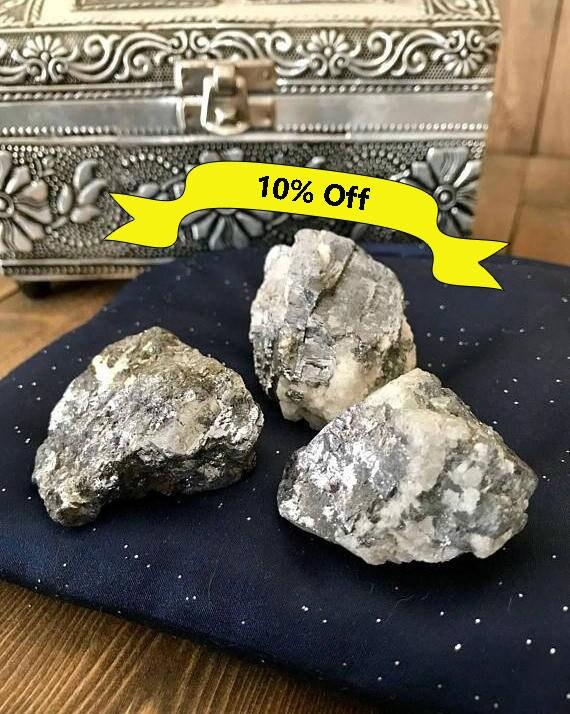 Natural Galena, Raw Galena, Galena Cubes, Silver, Metallic, Grey, Transformation, Spiritual Journey, Palm Stone, Raw Minerals