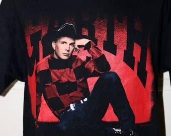 """1993 Garth Brooks """"On Tour"""" Concert Tour T-Shirt - Size XL - 100% Pre-Shrunk Cotton - Hanes Beefy-T - Excellent Condition"""