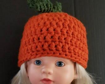 Pumpkin Hat,  Bright Orange Hat, Baby Pumpkin Hat, Holiday Hat, Halloween Hat, Thanksgiving Hat