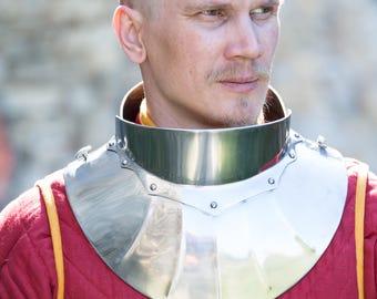 "Medieval Men's Steel Gorget ""Black Knight"""