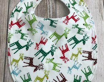 Reindeer Christmas Bib