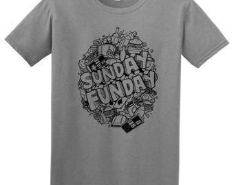 Sunday Funday Hangout  T-Shirt- Heather Grey