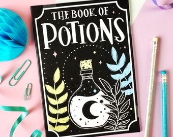 Book of Potions Notebook. Potions Book. Magic Spells. Witch's Notebook. Book of Potions Notepad. Cauldron Notebook. Witchcraft. Witch Vibes.