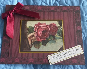 Thinking of You Today and Everday blank card with bow