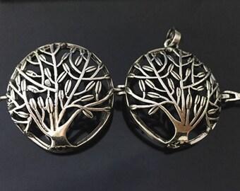 3pcs  16mmx28mm  Antique Silver Tree  Wishing Box charms pendant