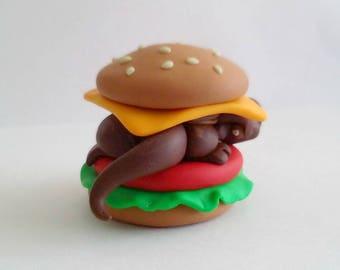 Polymer Clay Hamburger Dragon