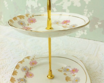 "Roslyn "" Lucius "" 2 Tier Mini Cake Stand"