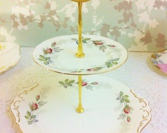 Bridal Rose 2 Tier Cake Stand
