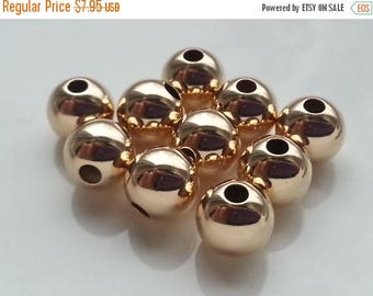 SAVE 20% 10 Pieces 14k Gold Filled Large Beads 6mm