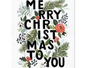 Merry Christmas Typography - Print