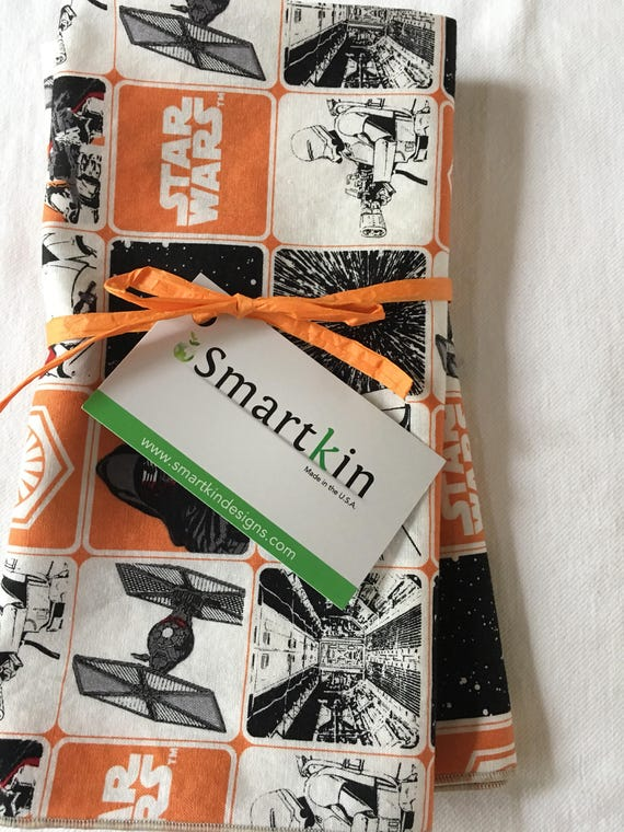 Star Wars Orange and Black Set of 2 Tea Towels 18x28 in Size by Smartkin