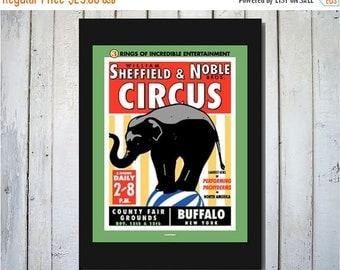 ON SALE Circus Buffalo New York Digital Print - 11x14
