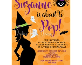 Witch Baby Shower Invitation