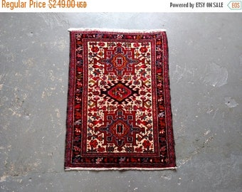SUMMER CLEARANCE Persian Rug - 1970s Hand-Knotted Karaja Persian Rug (3463)
