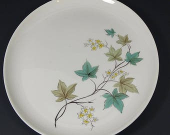Carefree Woodbine Syracuse Serving Platter, Vintage 1960s Midcentury Maple Leaf Flower Platter Syracuse True China