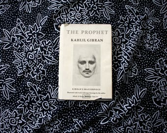 The Prophet By Kahlil Gibran Hardcover Mystical Romantic Metaphysical Sufi Occult Poetry 1973 Book With Illustration Photo Plates