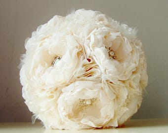 Reserved Listing - Fabric Brooch Bouquet