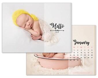 "C2 :. 5""x7"" 2018 Calendar Template | Cute baby"