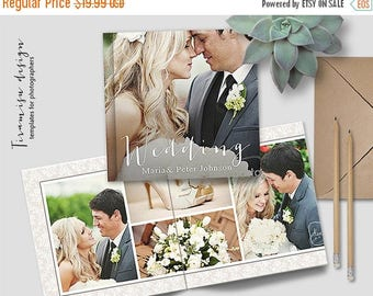 ON SALE 12x12 Wedding Album Photoshop Template, Photo Album for Pro Photographers, Photobook Template