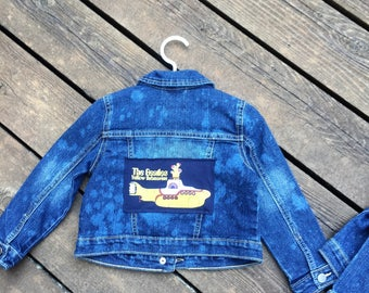 vintage Beatles yellow submarine tshirt denim toddler jacket