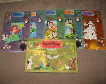 5 Walt Disney Treasure Chest Story Book Collection-Walt Disney's Children's Classics 1991 Book-Disney Classic Stories-Oversized Books