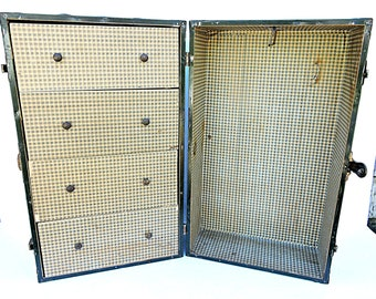Doll Wardrobe Steamer Trunk Doll Clothes Suitcase
