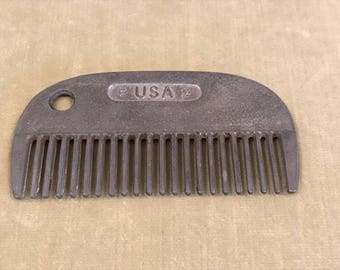 Metal Made in the USA Horse Mane and Tail Comb