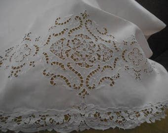 Vintage Ornate Richelieu Lace Pillow Case