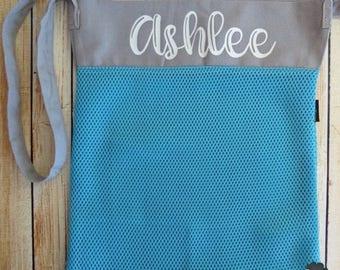ON SALE Personalized Mesh Seashell Beach bag