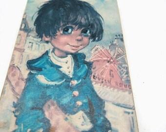 1960s Big Eyed Child Paris | Design Michel Thomas | Print Vintage