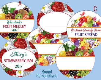 "12 Round 2"" to 2.5"" LABELS CUSTOM or blank Jam Jelly Fruit Canning Product Logo Personalized stickers"