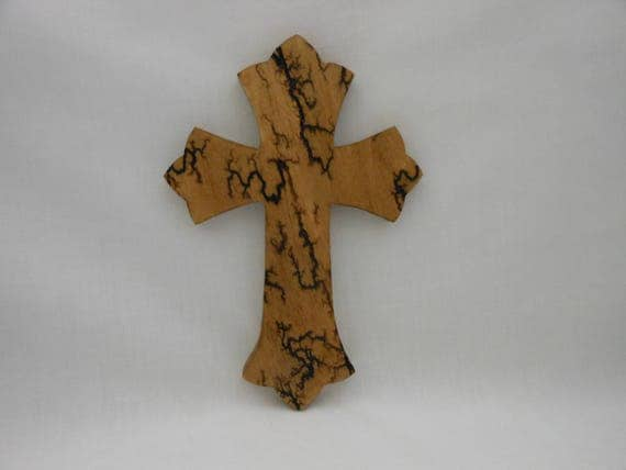 Cross Wall Hanging lichtenberg fractal burned wood cross wall hanging 165