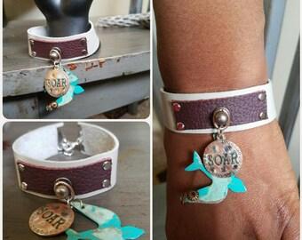Fly High Leather Bracelet