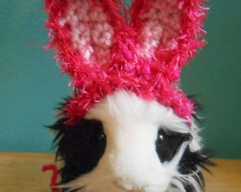 Guinea pig or Ferret Easter Bunny Ears Hat Pink Bunny Ears,  Guinea pig clothes, Halloween Costume for Guinea pig, Tiny Pet Hat