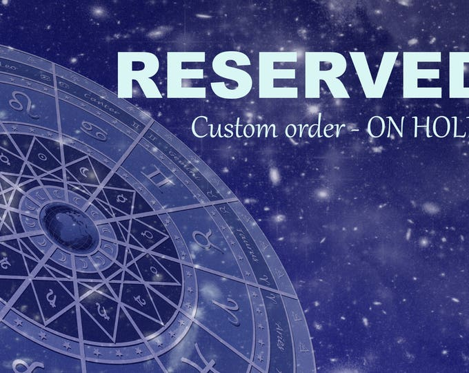 RESERVED for V -  Mystical Male Grigori inspired vessel - Handcrafted Rainbow Calsilica pendant necklace