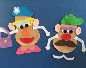 Mr & Mrs Potato Head Felt Board Set