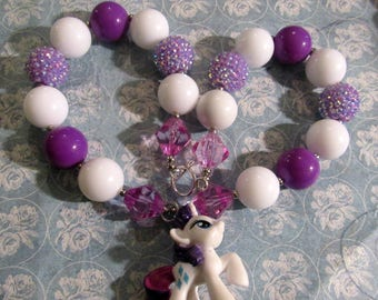 Pony Rarity Bubblegum Beaded Necklace