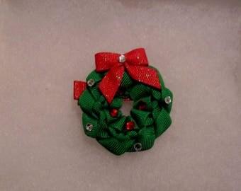 Christmas Wreath Alligator Clip