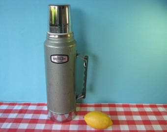 Stanley Aladdin Thermos - Stainless Steel - Quart Size -  # A 944 CH  - Vintage  1970's
