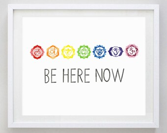 Be Here Now Watercolor Art Print